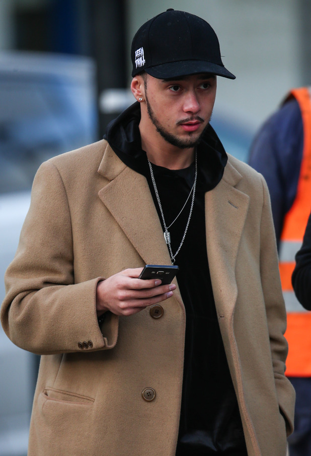 Mason Noise returns to The X Factor rehearsals, London 4 December