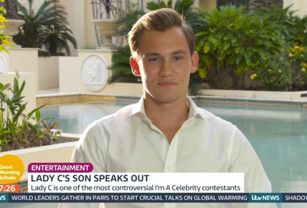 Lady C's son Dima speaks to Good Morning Britain 2015