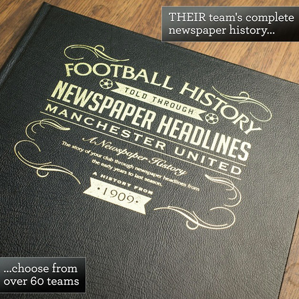 Personalised Football Book - For Your Team How far back can you remember