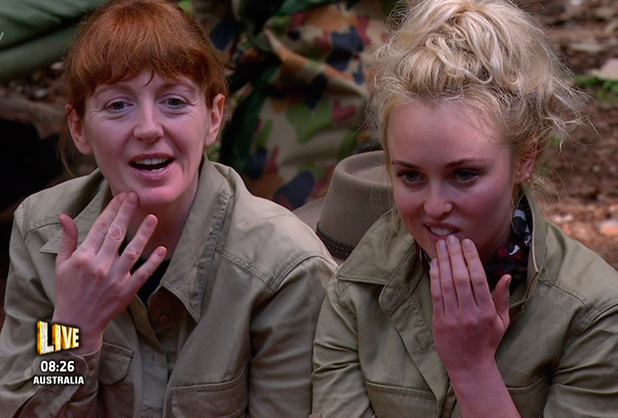 Yvette Fielding and Jorgie Porter on 'I'm a Celebrity... Get Me Out of Here!' Broadcast on ITV1 HD.