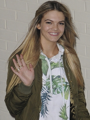X Factor's Louisa Johnson leaves the Fountain studios after making it through to the final, Sunday 6th December 2015