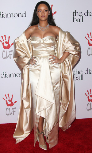 Rihanna on the red carpet at the Rihanna and The Clara Lionel Foundation Host 2nd Annual Diamond Ball, Santa Monica, America 11th December 2015
