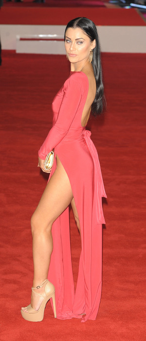 Love Island's Cally Jane Beech at Daddy's Home premiere in London's West End, 10th December 2015