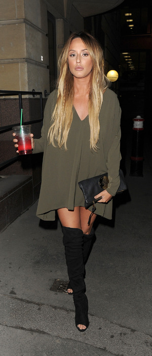 Charlotte Crosby seen at Turntable Bar in Holborn, London, 9th December 2015