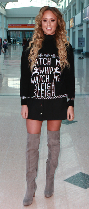 Charlotte Crosby attends The Clothes Show, NEC Birmingham 7 December