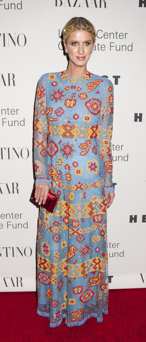 "Nicky Hilton wears Valentino to ""An Evening Honoring Valentino"" at Lincoln Center in New York, America 8th December 2015"