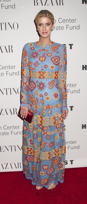 "Nicky Hilton Rothschild wears sequinned Valentino to ""An Evening Honoring Valentino"" at Lincoln Center in New York, America 8th December 2015"