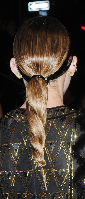 Olivia Palermo shows off twisted ponytail at An Evening honoring Valentino, New York, America, 8th December 2015