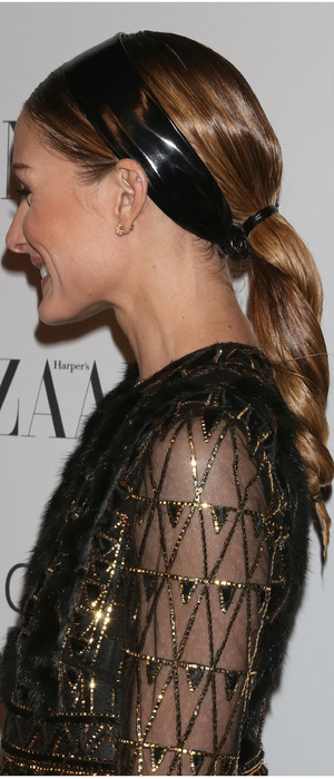 Olivia Palermo flaunts her twisted ponytail at An Evening honoring Valentino, New York, America, 8th December 2015