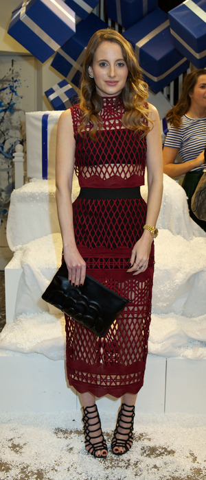 Rosie Fortescue attends the Josh Newis-Smith and Kit and Ace present Joshington's Kitmas in London, 10th November 2015