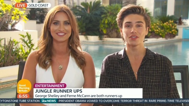Ferne McCann and George Shelley on Good Morning Britain, ITV 7 December