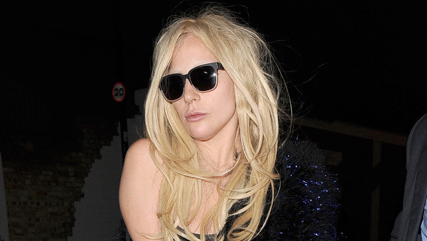 Lady Gaga spends her third straight day at a recording studio in Kings Cross - 25 November 2015.