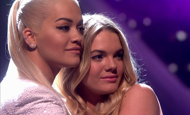 Louisa Johnson awaits the result of the public vote on the Love And Heartbreak edition of 'The X Factor'. Broadcast on ITV1 HD. 21 November 2015.