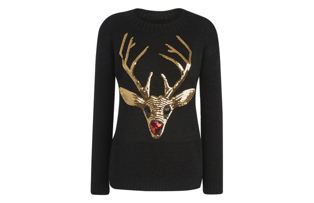 Sequin Reindeer jumper £21.95 from WantThatTrend 9th December 2015