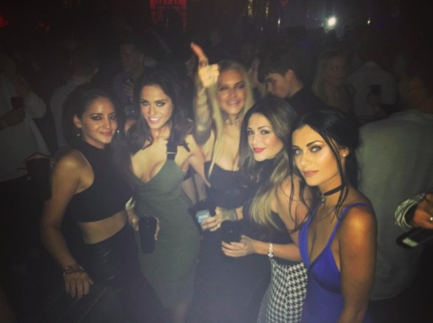 Vicky Pattison and Casey Batchelor enjoy night out, 11 December 2015.