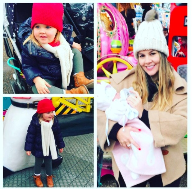 Imogen Thomas shares pictures of daughter Siera and Ariana, 12 December 2015.