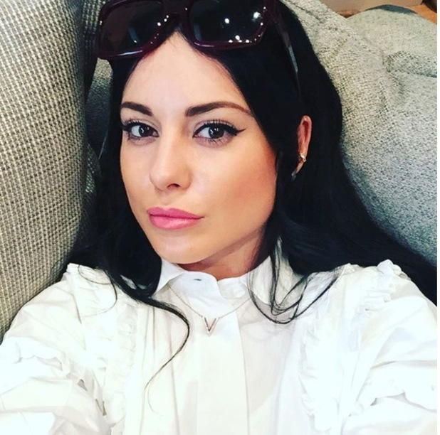 Made in Chelsea's Louise Thompson dyes her hair black, 8th December 2015