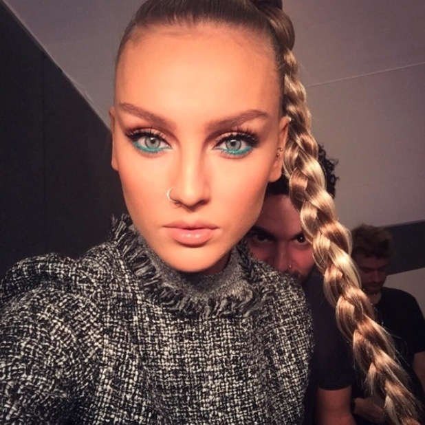 Little Mix's Perrie Edwards shows off her aqua marine eyes at the BBC Music Awards, London, 10th December 2015