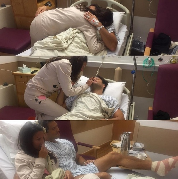 Mark Wright thanks Michelle Keegan for her support after his foot operation, 10th December 2015