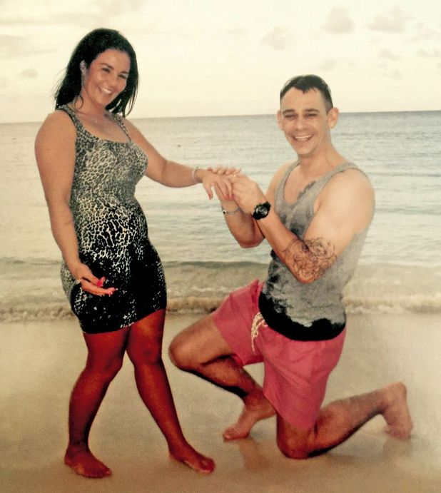 Lisa Reid and James Ritchie after getting engaged