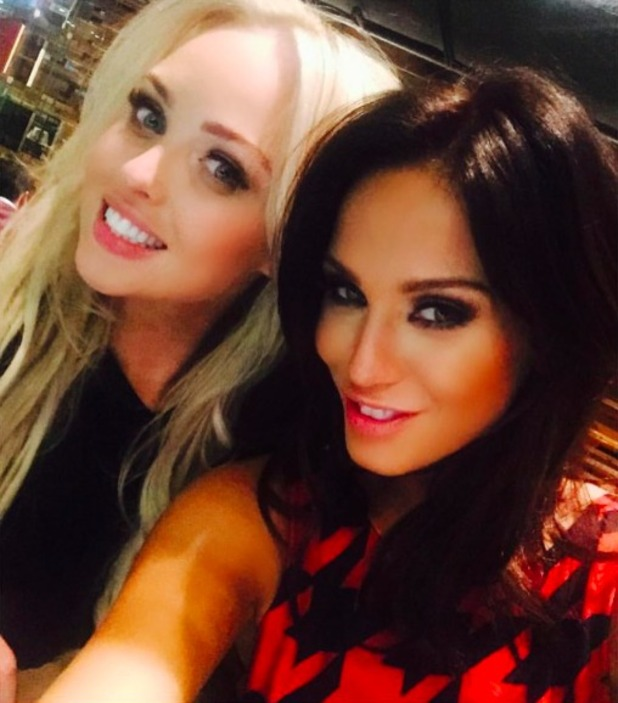 Jorgie Porter and Vicky Pattison are reunited days after their jungle stint, 11 December 2015.