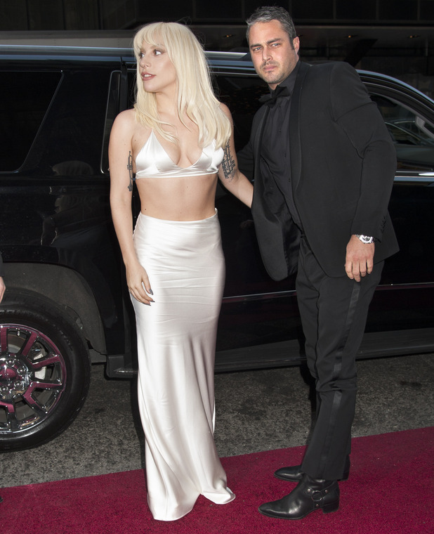 Lady Gaga and boyfriend Taylor Kinney attend the Billboard Women in Music 2015 at Cipriani 42nd Street, December 2015.