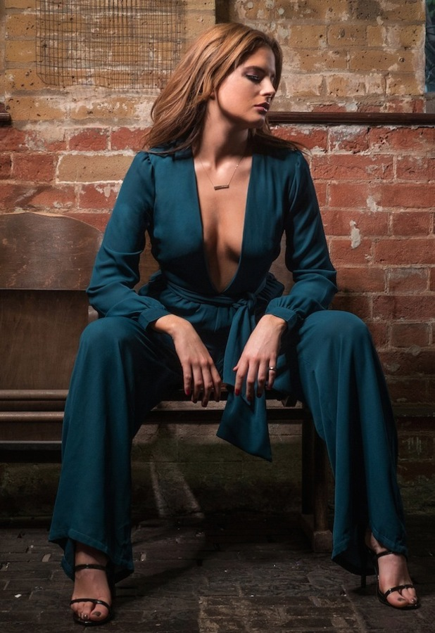 Binky Felstead X In The Style plunging teal jumpsuit, £39.99 11th December 2015