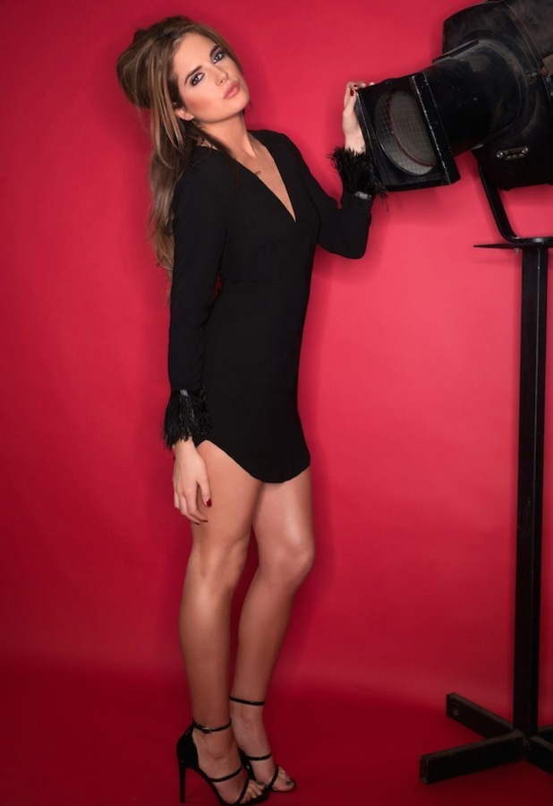 Binky Felstead X In The Style black plunging playsuit £29.99, 11th December 2015