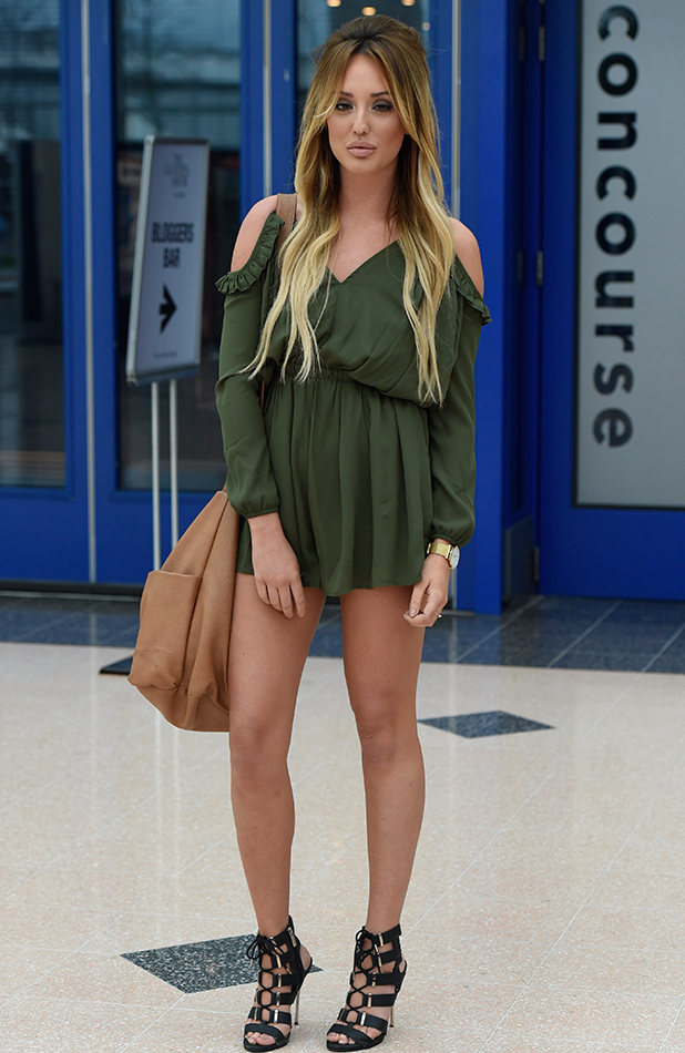 Charlotte Crosby Arriving At The NEC Arena In Birmingham For The Clothes Show Live 2015