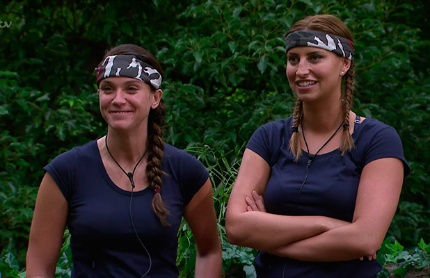 Vicky Pattison and Ferne McCann ahead of the 'Horror-flying Circus' Bushtucker Trial on 'I'm a Celebrity... Get Me Out of Here!' Broadcast on ITV1 HD.