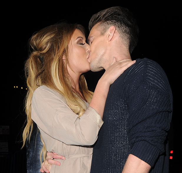Gaz Beadle and Charlotte Crosby seen snogging each others faces off outside DSTRKT nightclub at 3am 10 Dec 2015