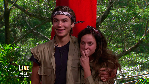 George Shelley and Vicky Pattison wait to find out who will be crowned the winner on the final of 'I'm a Celebrity... Get Me Out of Here!' Broadcast on ITV1 HD.