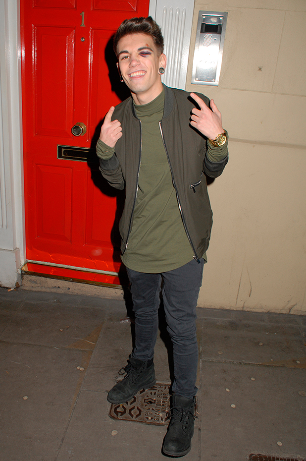 Jake Sims at Metro's Guilty Pleasures Christmas Party at Mews of Mayfair
