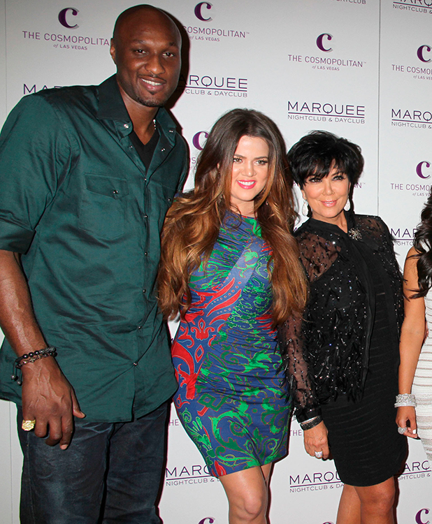 Lamar Odom, Khloe Kardashian, Kris Jenner, Kim Kardashian, Kris Humphries Kim Kardashian celebrates her birthday at Marquee Nightclub at Cosmopolitan Las Vegas, Nevada - 22.10.11