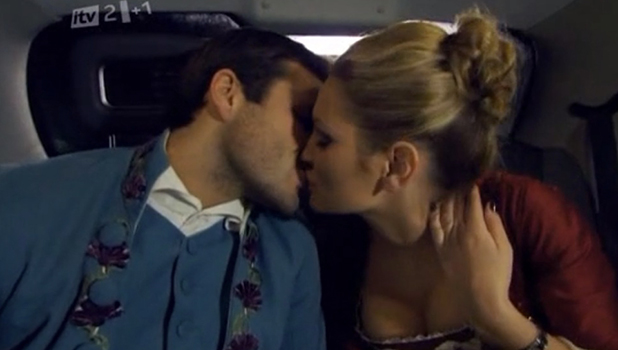 TOWIE series one: Mark and Sam kiss