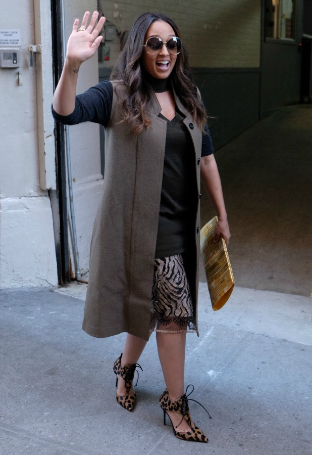 Tia Mowry spotted leaving The Huffington Post 9 Dec 2015