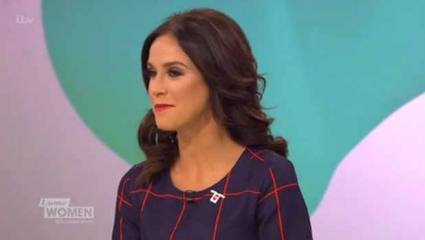 Vicky Pattison on Loose Women, ITV, 10 Dec 2015