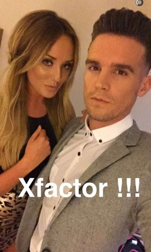 Gary Beadle and Charlotte Crosby at The X Factor final 13 December
