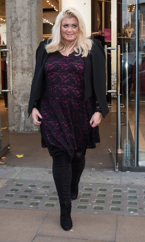 Photocall in front of Gemma Collins' latest clothing range stocked in plus size fashion retailer Evans on Oxford Street, 16th December 2015