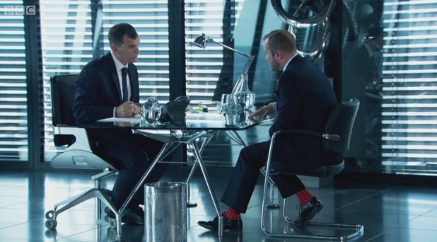 Richard Wood and his polka dot socks, The Apprentice 16 December