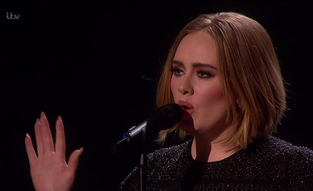 Adele performs 'Hello' on the results show for the final of 'The X Factor'. Broadcast on ITV1 HD, 13 December 2015