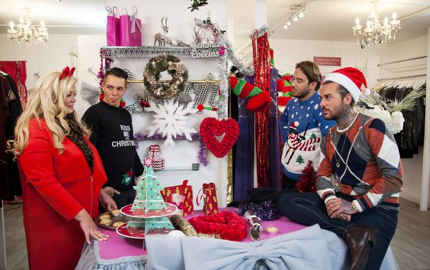 Gemma Collins films TOWIE return with Bobby, Lockie and Pete. The Only Way is Essex Christmas special  24 Nov 2015
