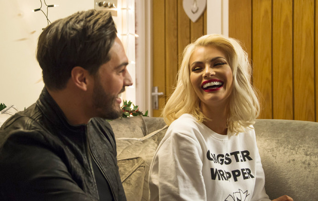 'The Only Way is Essex' cast filming, Essex, Britain - 26 Nov 2015 Mario Falcone and Chloe Sims