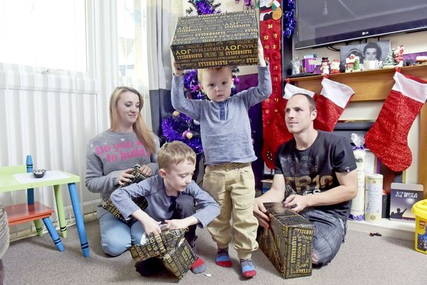 Jody Robson and her children ready for Christmas
