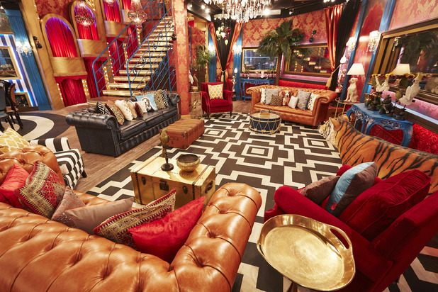Celebrity Big Brother house series 17 ti air January 2016 - Living room area. 18 December 2015.