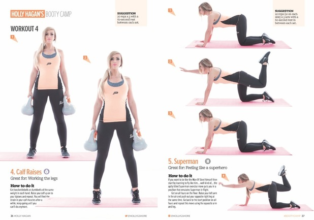 Holly Hagan fitness guide: Holly Hagan's Booty Camp exercises 15 December