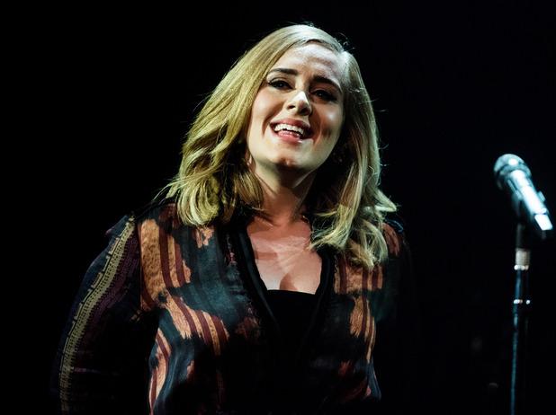 Adele, Skavlan Television Show filming at the London Studios, 3 December 2015