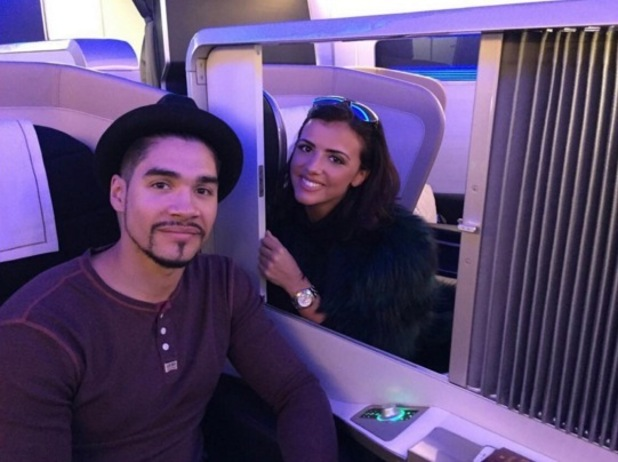 Lucy Mecklenburgh and Louis Smith fly to New York 15 December