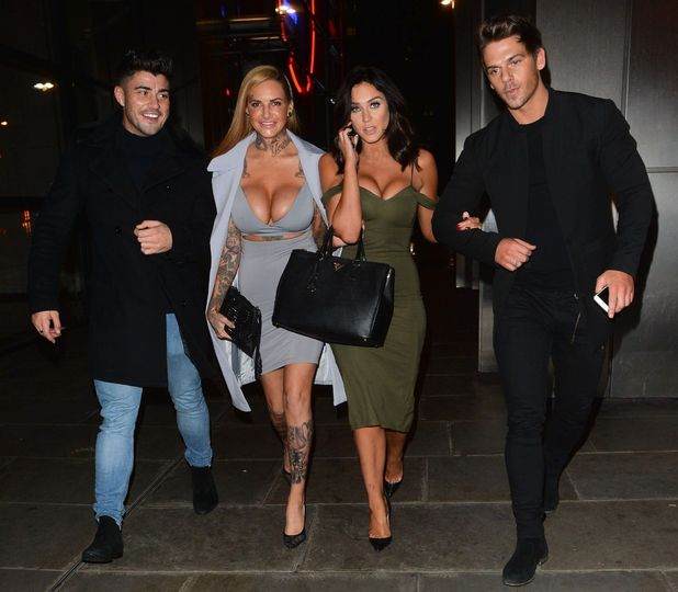 Vicky Pattison, Joss Mooney, Jem Lucy and Rogan O'Connor have dinner at Sushi Samba, London 14 December