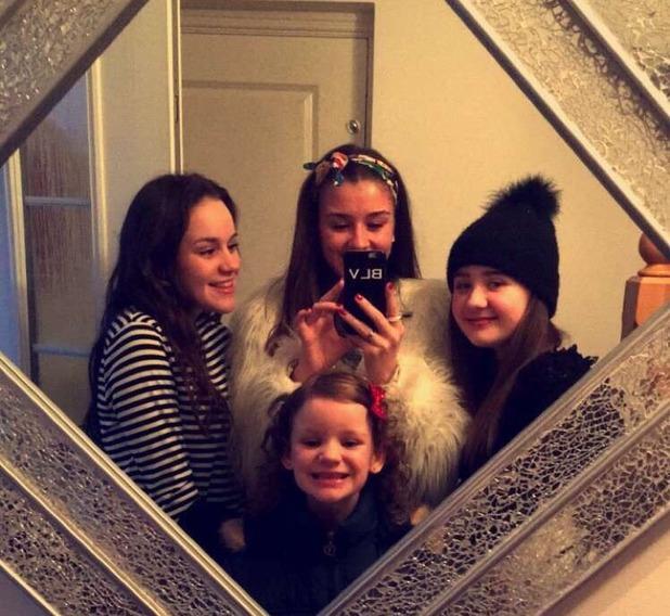 Brooke Vincent Blog: Brooke with sister and cousins 18 December